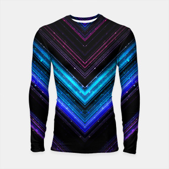 Thumbnail image of Sparkly metallic blue and purple galaxy lines Longsleeve Rashguard , Live Heroes
