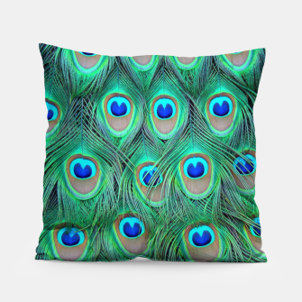 Thumbnail image of Peacock pattern Pillow, Live Heroes
