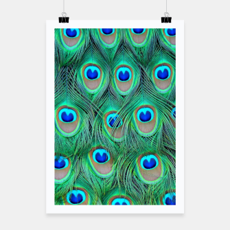 Thumbnail image of Peacock pattern Poster, Live Heroes