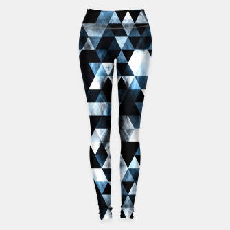 Thumbnail image of Triangle Geometric Vibrant Blue Smoky Galaxy Leggings, Live Heroes