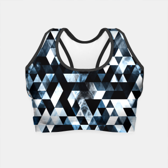 Thumbnail image of Triangle Geometric Vibrant Blue Smoky Galaxy Crop Top, Live Heroes