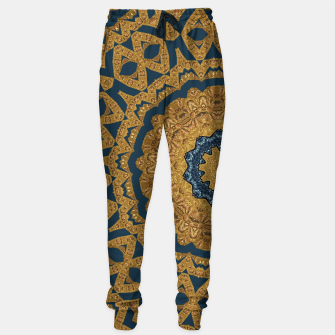 Thumbnail image of Gold and azure Sweatpants, Live Heroes