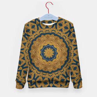 Thumbnail image of Gold and azure Kid's Sweater, Live Heroes