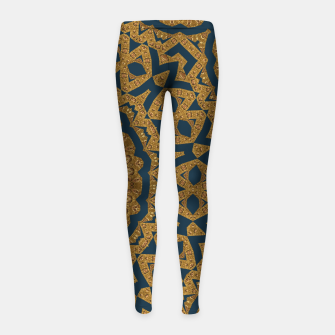 Miniaturka Gold and azure Girl's Leggings, Live Heroes
