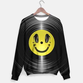 Thumbnail image of Vinyl Headphone Smiley Sweater, Live Heroes