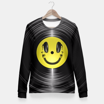 Miniaturka Vinyl Headphone Smiley Fitted Waist Sweater, Live Heroes