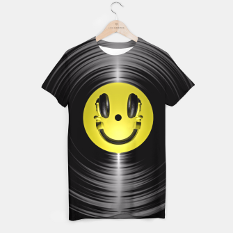 Thumbnail image of Vinyl Headphone Smiley T-shirt, Live Heroes