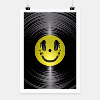 Thumbnail image of Vinyl Headphone Smiley Poster, Live Heroes