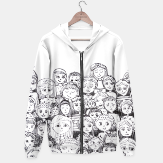 Thumbnail image of Funny Faces Hoodie, Live Heroes