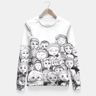 Miniaturka Funny Faces Fitted Waist Sweater, Live Heroes