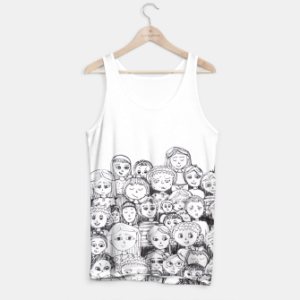 Thumbnail image of Funny Faces Tank Top, Live Heroes