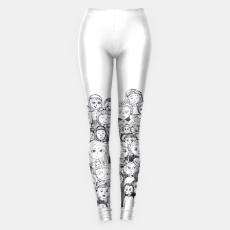 Thumbnail image of Funny Faces Leggings, Live Heroes