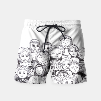 Thumbnail image of Funny Faces Swim Shorts, Live Heroes