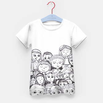 Thumbnail image of Funny Faces Kid's T-shirt, Live Heroes