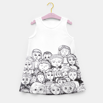 Imagen en miniatura de Funny Faces Girl's Summer Dress, Live Heroes