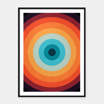 Thumbnail image of Retro color Framed poster, Live Heroes