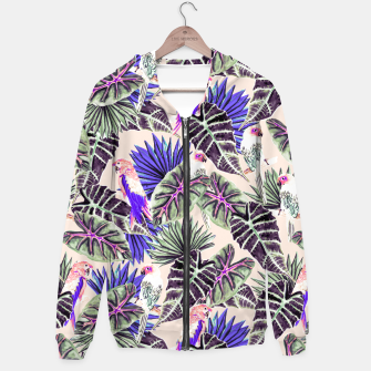 Thumbnail image of Jungle Pattern and Tropical Birds I Sudadera con capucha, Live Heroes