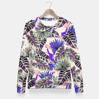Miniaturka Jungle Pattern and Tropical Birds I Sudadera entallada, Live Heroes