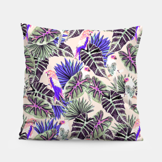 Thumbnail image of Jungle Pattern and Tropical Birds I Almohada, Live Heroes