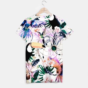 Thumbnail image of Tropical boho painting Camiseta, Live Heroes