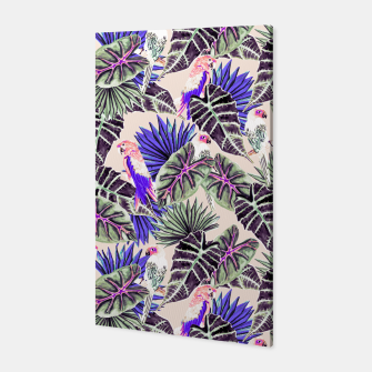 Thumbnail image of Jungle Pattern and Tropical Birds I Canvas, Live Heroes