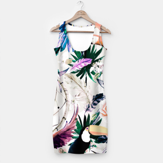 Thumbnail image of Tropical boho painting Vestido, Live Heroes