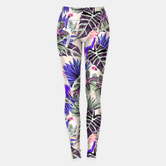 Thumbnail image of Jungle Pattern and Tropical Birds I Leggings, Live Heroes