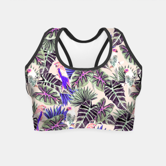 Thumbnail image of Jungle Pattern and Tropical Birds I Crop Top, Live Heroes