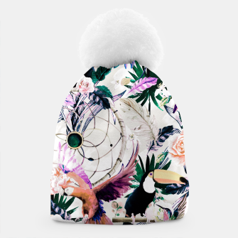 Thumbnail image of Tropical boho painting Gorro, Live Heroes