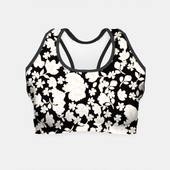 Thumbnail image of White flowers Crop Top, Live Heroes