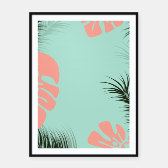 Thumbnail image of Tropical design 001 Framed poster, Live Heroes