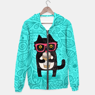 Coffee kitty cat Hoodie obraz miniatury