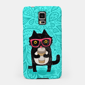 Miniature de image de Coffee kitty cat Samsung Case, Live Heroes