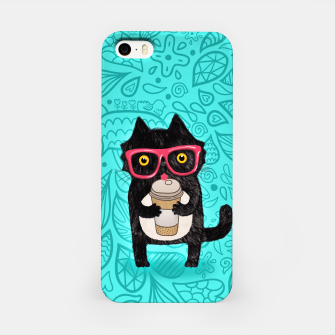Coffee kitty cat iPhone Case obraz miniatury