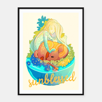 Thumbnail image of Sunblessed Framed poster, Live Heroes