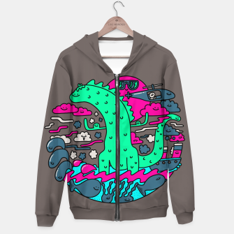 Thumbnail image of Happizilla Hoodie, Live Heroes