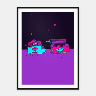 Thumbnail image of Happy Camper Framed poster, Live Heroes