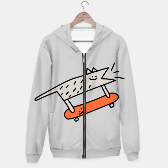 Thumbnail image of Hot Beans the Dog - Skateboarding Hoodie, Live Heroes