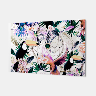 Thumbnail image of Tropical boho painting Canvas, Live Heroes