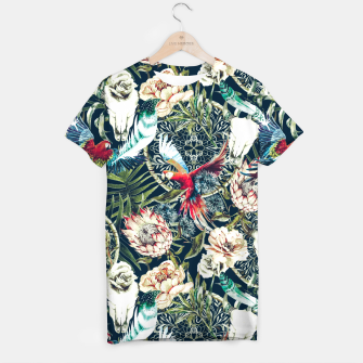 Thumbnail image of Dark pattern boho skull tropical Camiseta, Live Heroes