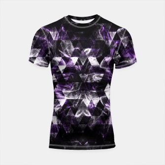 Thumbnail image of Triangle Geometric Purple Smoky Galaxy Shortsleeve Rashguard, Live Heroes