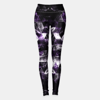 Thumbnail image of Triangle Geometric Purple Smoky Galaxy Leggings, Live Heroes