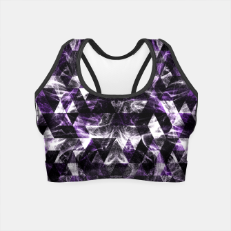 Thumbnail image of Triangle Geometric Purple Smoky Galaxy Crop Top, Live Heroes