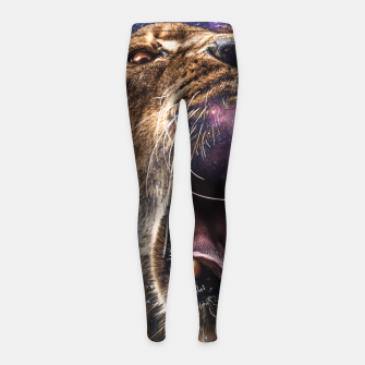 Thumbnail image of Female of the species Girl's Leggings, Live Heroes