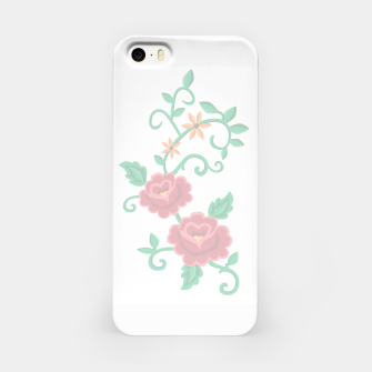 Miniatur Folk embroidery with flowers - traditional pattern  Obudowa iPhone, Live Heroes