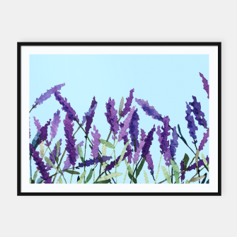 """Thumbnail image of """"Violet lavender"""" Cartel con marco, Live Heroes"""