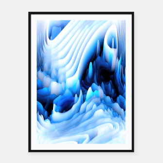 Thumbnail image of 3d Abstract Framed poster, Live Heroes