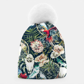 Thumbnail image of Dark pattern boho skull tropical Gorro, Live Heroes