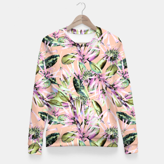 Thumbnail image of Abstract of exotic nature pink I Sudadera entallada, Live Heroes
