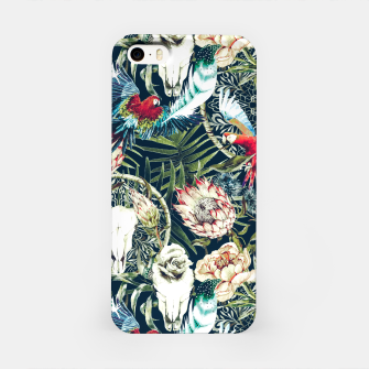 Thumbnail image of Dark pattern boho skull tropical Carcasa por Iphone, Live Heroes